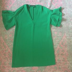 Zara Woman Kelly Green dress size M